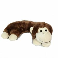 Buy Curved Brown Monkey Plush Pillow Stuffed Animal 13""
