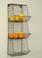 Buy Wire Basket Wall Bin Rack Fruit Vegetable Storage Organizer Country Vintage New