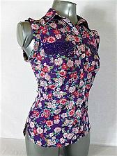 Buy CANDIES womens Sz XS SLEEVELESS MULTI COLOR BUTTON DOWN SEQUIN TOP BLOUSE (G)P