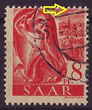 Buy GERMANY Saar [1947] MiNr 0209 PF VI ( O/used ) Plattenfehler
