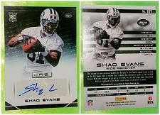 Buy NFL Shaq Evans New York Jets Autographed 2014 Panini Rookie Mnt