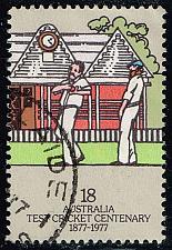 Buy Australia #665 Bowler and Fieldsman; Used (0.45) (4Stars) |AUS0665-01XBC