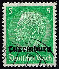 Buy Luxembourg #N3 Hindenburg - German Occupation; Used (4Stars) |LUXN03-01XRP