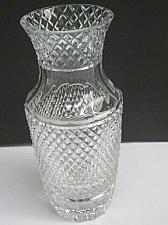Buy Hand Cut glass crosscut vase hand polished 24% lead crystal custom