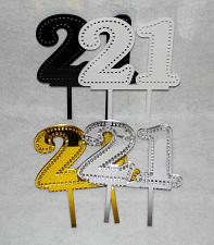Buy Birthday Cake Toppers - 21 - Assorted Colors