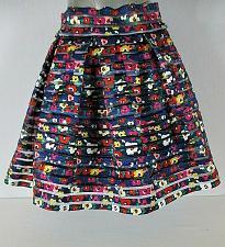 Buy BTWEEN girls Large W 24 blue FLORAL striped lined back zipper STRETCH skirt (C4)