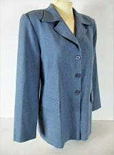 Buy LIZA B womens Sz 9/10 L/S blue 3 BUTTON 2 faux pockets jacket (C3)