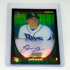 Buy MLB JAKE MCGEE TAMPA BAY RAYS AUTOGRAPHED 2011 BOWMAN CHROME ROOKIE REFRACTOR