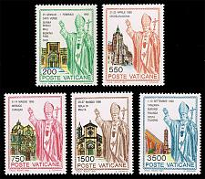 Buy Vatican City #890-894 Journeys of John Paul II Set of 5; MNH (5Stars)  VAT0894set-01X