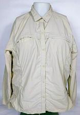 Buy Eddie Bauer Sport Women's Windbreaker Jacket XXL Button Up Beige Side Zip