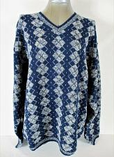 Buy PURE & SIMPLE mens 2XL L/S BLUE WHITE Wool & Lambs wool blend SWEATER NWT (A3)P