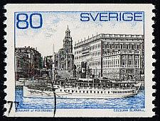 Buy Sweden #749 Steamer and Royal Palace; Used (5Stars) |SVE0749-05