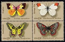 Buy US #1712-1715 Butterflies Block of 4; MNH (1.00) (4Stars) |USA1715a-07