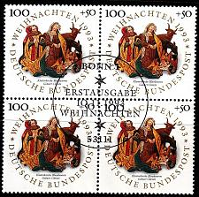 Buy GERMANY BUND [1993] MiNr 1708 4er ( O/used ) Weihnachten