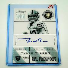 Buy NFL TYLER WILSON OAKLAND RAIDERS AUTOGRAPH 2013 PANINI PRESTIGE RC MINT