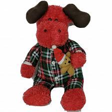 "Buy Sugar Loaf Christmas Moose Flannel Pajamas Teddy Bear Plush Stuffed Animal 15.5"""