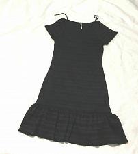 Buy Free People Womens Sz XS Black Fit Flare Dress Short Sleeve