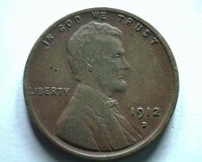 Buy 1912-D LINCOLN CENT PENNY VERY FINE VF NICE ORIGINAL COIN BOBS COINS FAST SHIP