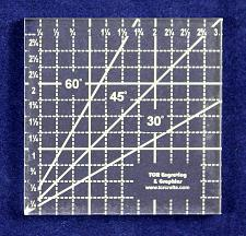 """Buy 3"""" Square Ruler -Acrylic 1/4"""" -Back Engraved- Quilting/sewing"""