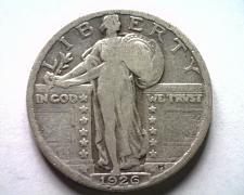 Buy 1926 STANDING LIBERTY QUARTER FINE F NICE ORIGINAL COIN BOBS COINS FAST SHIPMENT