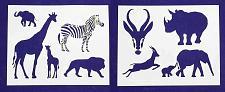 "Buy Safari Animals -2 Piece Stencil Set 14 Mil 8"" X 10"" Painting /Crafts/ Templates"