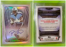 Buy NFL Bishop Sankey Titans Autographed 2014 Bowman Football Rookie Refractor Mint
