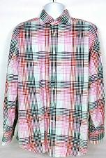 Buy Thomas Dean Men's Shirt Large Tattershall Button Front Shirt Long Sleeve