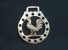 Buy Vintage Rooster Medallion Harness Horse Brass