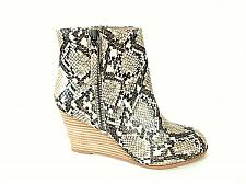 Buy Steve Madden Brown Snakeskin Print Zip Ankle Wedge Boots Shoes Women's 6 M (SW17