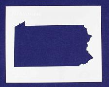 """Buy State of Pennsylvania Stencil 14 Mil 8"""" X 10"""" Painting /Crafts/ Templates"""