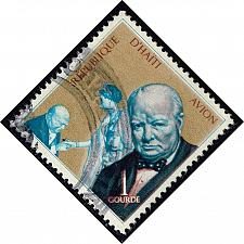Buy Haiti #C321 Winston Churchill and Elizabeth II; Used (0.50) (2Stars) |HAIC321-02XVA