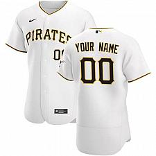 Buy Pittsburgh Pirates White Home Authentic Custom Jersey