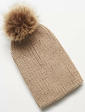 Buy Women Hats Metallic Pom Pom Beanie