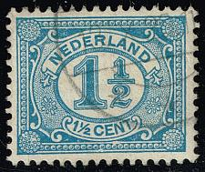 Buy Netherlands #57 Numeral; Used (3Stars)  NED0057-04