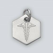 Buy .925 Sterling Silver Medical Alert Tag + .925 Sterling Silver Necklace