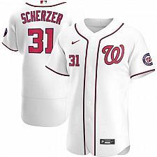 Buy Max Scherzer Washington Nationals White Home Authentic Player Jersey