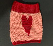 Buy Brand New Hand Crocheted Valentines Day Red Pink Heart Dog Snood Neck Warmer