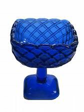 Buy L.E Smith Glass cobalt blue ICE CREAM bowl