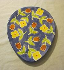 Buy Hausenware Deviled Egg Platter Plate Ceramic Egg-Shaped Blue Floral Easter Plate
