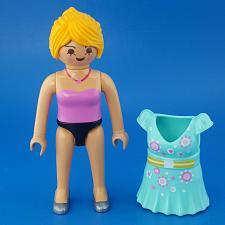 Buy Playmobil Take Along Fashion Store 9113 Shopper Girl Figure Aqua Snap-On Dress