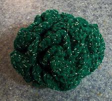 Buy New Handmade Green Glitter Crochet Brain Ball Dog Cat Toy For Dog Rescue Charity