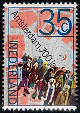 Buy Netherlands #524 People and Map of Dam Square; MNH (4Stars) |NED0524-04XKN