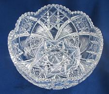 "Buy ABP cut glass bowl American brilliant 9"""