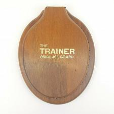 Buy The Trainer Cribbage Board Toilet Seat Continuous Tracks Wood Pegs 1977 Folding