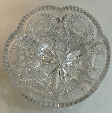 Buy ABP cut glass bowl American brilliant Tusks BD