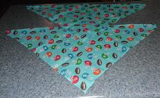 Buy Two Brand New Footballs and Helmets Design Dog Bandanas For Dog Rescue Charity