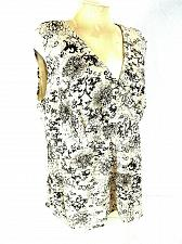 Buy Lane Bryant Women's 18/20 Brown Beige Sleeveless Floral Faux Wrap Lined Top (O)