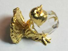 Buy Swarovski crystal brass hen figurine