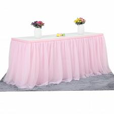 Buy 6ft Pink Tulle Table Skirt for Rectangle or Round Tables Tutu Table Skirt For H