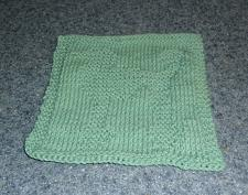 Buy Brand New Hand Knit Standard Poodle Dog Blue Dish Cloth For Dog Rescue Charity